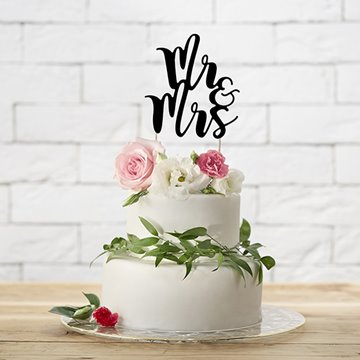 Cake Topper Mr & Mrs sort