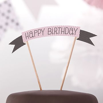 Cake Topper Happy Birthday Sweet