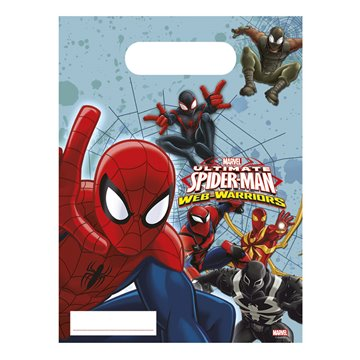 Partypose / slikpose Ultimate Spiderman Web Warriors  6 stk.